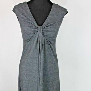 Express Knit Dress Knot Front Stretch Gray XS